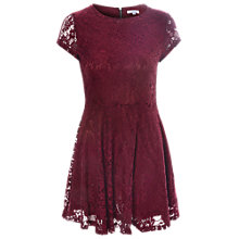 Buy True Decadence Fit And Flare Lace Dress, Burgundy Online at johnlewis.com