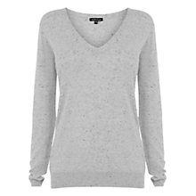 Buy Warehouse V Neck Jumper, Light Grey Online at johnlewis.com