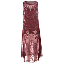 Buy True Decadence Delicate Detail Dress, Maroon Online at johnlewis.com