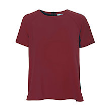 Buy True Decadence Short Sleeve Blouse, Maroon Online at johnlewis.com