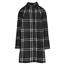 Buy Mango Check Wool Blend Coat, Black Online at johnlewis.com
