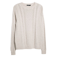 Buy Mango Cable Knit Jumper, Light Beige Online at johnlewis.com