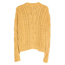 Buy Mango Cable Knit Jumper, Ochre Online at johnlewis.com
