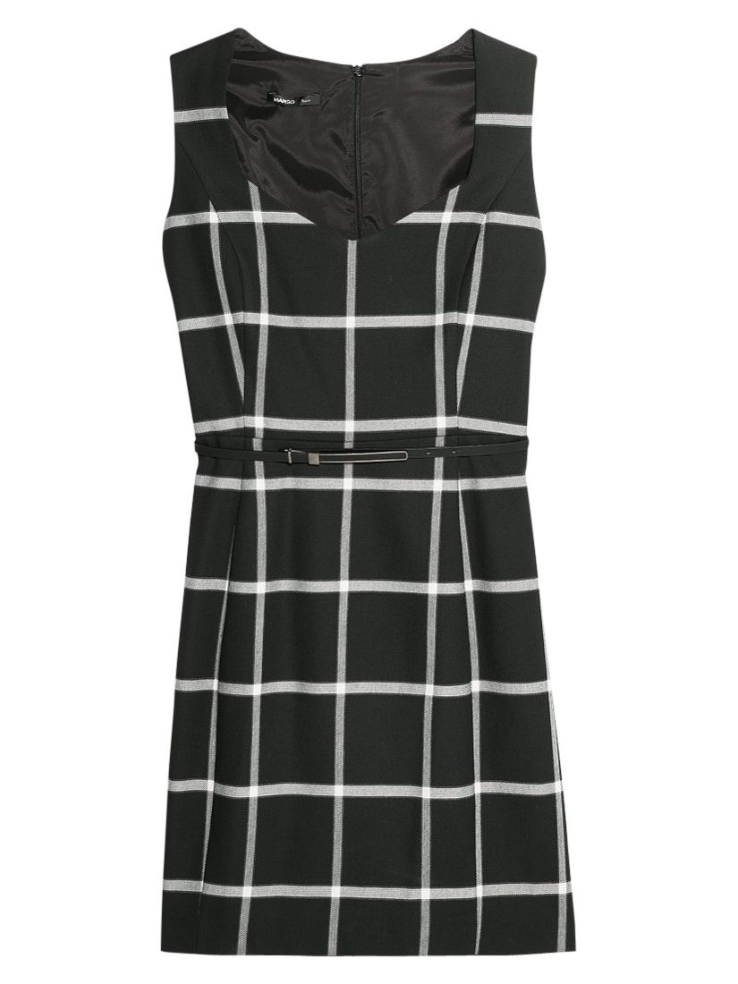 mango check belt dress black, mango, check, belt, dress, black, clearance, womenswear offers, womens dresses offers, women, inactive womenswear, new reductions, womens dresses, special offers, 1725342