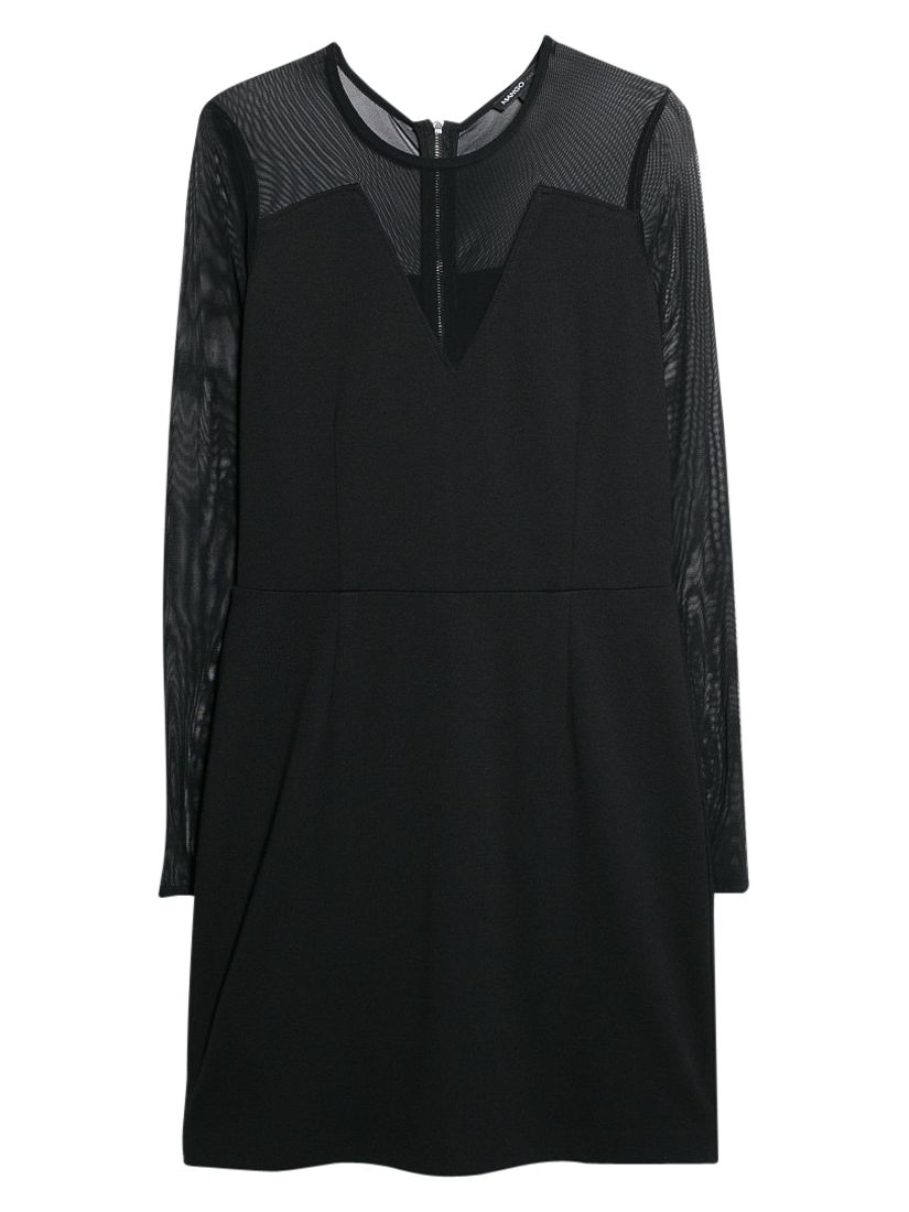 mango mesh panel dress black, mango, mesh, panel, dress, black, clearance, womenswear offers, womens dresses offers, women, inactive womenswear, new reductions, womens dresses, party outfits, party dresses, special offers, edition magazine, little black dress, 1723866