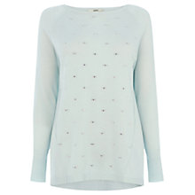 Buy Oasis Relaxed Embellished Top, Pale Green Online at johnlewis.com