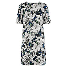Buy Warehouse Autumn Leaves Compact Yarn Dress, Multi Online at johnlewis.com