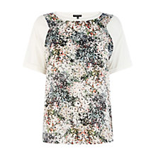 Buy Warehouse Floral Woven Front Tee, Multi Online at johnlewis.com
