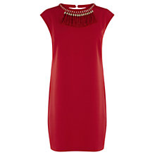 Buy Warehouse Tassel Necklace Dress, Bright Red Online at johnlewis.com