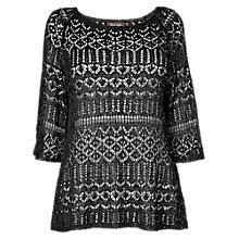 Buy Phase Eight Sylvie Sequin Jumper, Black Online at johnlewis.com