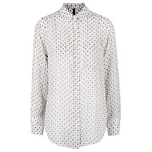 Buy Mango Printed Shirt, Natural White Online at johnlewis.com