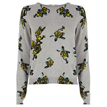 Buy Oasis Rose Crop Jumper, Grey Online at johnlewis.com
