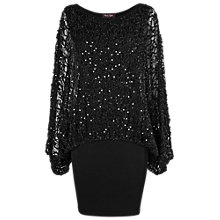Buy Phase Eight Serrina Sequin Knit Dress, Black Online at johnlewis.com