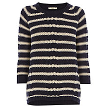 Buy Oasis Phoebe Stripe Jumper, Multi Blue Online at johnlewis.com