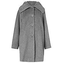 Buy Phase Eight Josie Ruched Collar Coat, Grey Online at johnlewis.com