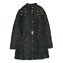 Buy Mango Feather Down Long Coat, Black Online at johnlewis.com
