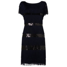 Buy Phase Eight Renata Fringed Dress, Midnight Online at johnlewis.com