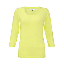 Buy COLLECTION by John Lewis 3/4 Sleeve Scooped Neckline Top, Lime Online at johnlewis.com