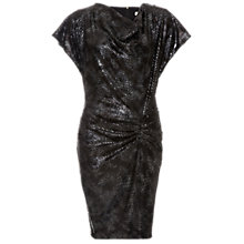 Buy Damsel in a dress Printed Animal Sequin Dress, Dark Grey Online at johnlewis.com