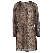 Buy Mango Leopard Print Dress, Brown Online at johnlewis.com
