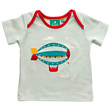 Buy Little Green Radicals Zeppelin Appliqué T-Shirt Online at johnlewis.com