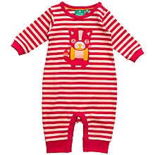 Buy Little Green Radicals Cat Applique Sleepsuit, Pink Online at johnlewis.com