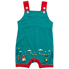 Buy Little Green Radicals Owl & Pussycat Dungarees, Pea Green Online at johnlewis.com