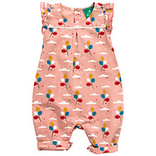 Buy Little Green Radicals Balloon Frilled Romper, Pink Online at johnlewis.com