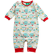 Buy Little Green Radicals Zeppelin Print Romper, Aqua/Multi Online at johnlewis.com