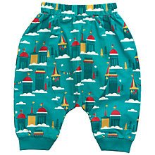 Buy Little Green Radicals Castle Jelly Bean Joggers, Turquoise Online at johnlewis.com