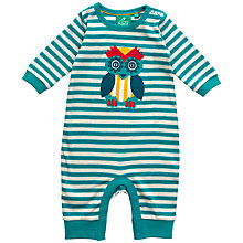 Buy Little Green Radicals Owl Applique Sleepsuit, Green Online at johnlewis.com