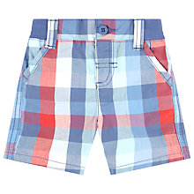 Buy John Lewis Check Poplin Shorts, Red/Blue Online at johnlewis.com