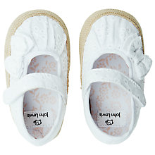 Buy John Lewis Espadrille Shoes, White Online at johnlewis.com