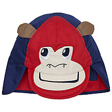 Buy John Lewis Baby's Monkey Face Hat, Blue/Red Online at johnlewis.com