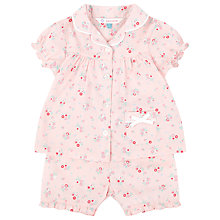 Buy John Lewis Ditsy Shorty Pyjamas, Pink Online at johnlewis.com
