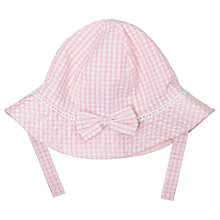 Buy John Lewis Baby's Seersucker Sun Hat, Pink/White Online at johnlewis.com