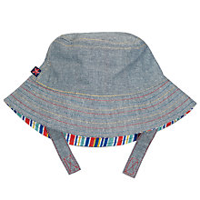 Buy John Lewis Baby's Reversible Chambray Sun Hat, Blue Online at johnlewis.com