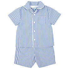 Buy John Lewis Stripe Woven Pyjamas, Blue/White Online at johnlewis.com