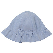 Buy John Lewis Baby's Chambray Sun Hat, Blue Online at johnlewis.com