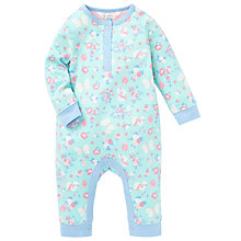 Buy John Lewis Butterfly Sleepsuit, Aqua Online at johnlewis.com