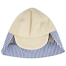 Buy John Lewis Baby's Nautical Hat, Blue/Stone Online at johnlewis.com