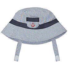 Buy John Lewis Baby's Ticking Stripe Sun Hat Online at johnlewis.com