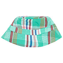 Buy John Lewis Patchwork Check Sun Hat, Green Online at johnlewis.com