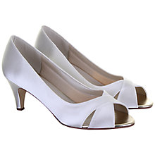 Buy Rainbow Club Evie Kitten Heel Court Shoes, Ivory Online at johnlewis.com