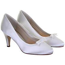Buy Rainbow Club Daisy Satin Bow Detail Court Shoes, Ivory Online at johnlewis.com