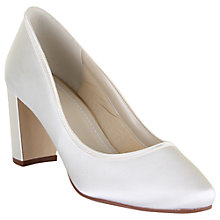 Buy Rainbow Club Florence Block Heeled Court Shoe, Ivory Online at johnlewis.com