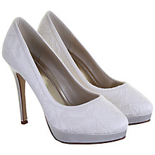 Buy Rainbow Club Sydney Satin Lace Court Shoes, Ivory Online at johnlewis.com