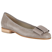 Buy Gabor Assist Bow Detail Ballerina Pumps, Grey Online at johnlewis.com