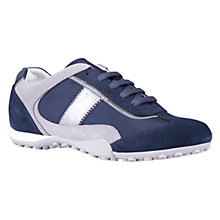 Buy Geox Snake Leather Trainers, Navy Online at johnlewis.com