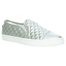 Buy Geox New Club Slip On Trainers, Silver Online at johnlewis.com
